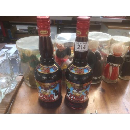 214 - 2 x Crème De Cassis - Sealed Bottles...
