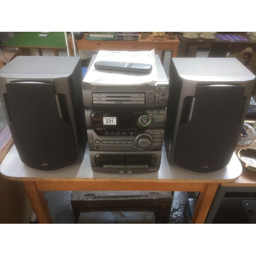 231 - JVC Stereo System & Speakers...