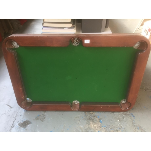 233 - Antique Snooker Table...