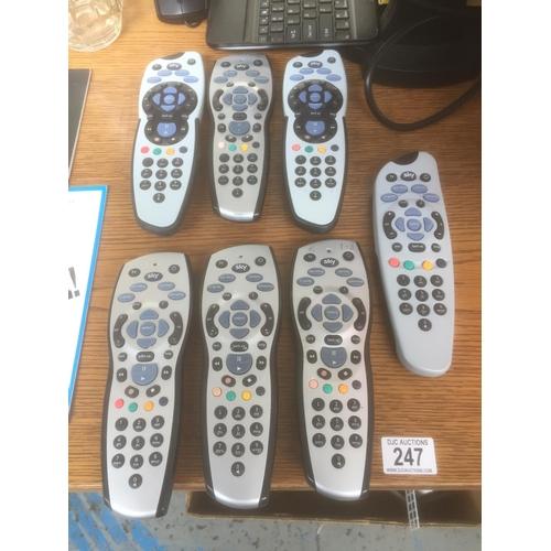 247 - Quantity of Sky Remotes...