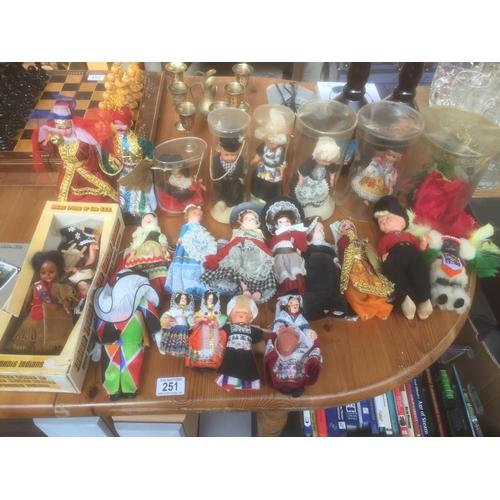 251 - Quantity of Vintage Dolls...