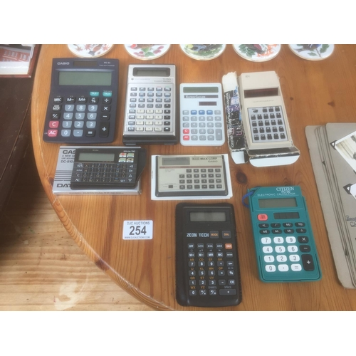 254 - Quantity of Calculators...