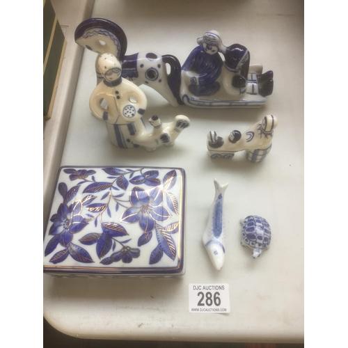 286 - Quantity of Blue & White...