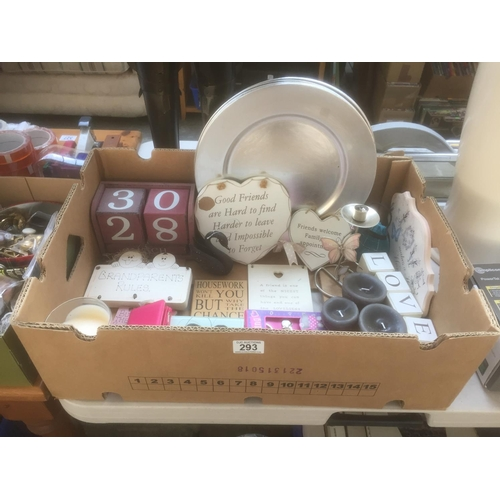 293 - Box of Shabby Chic Items...