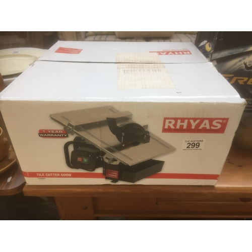 299 - Rhyas 600W Tile Cutter - New in Box...