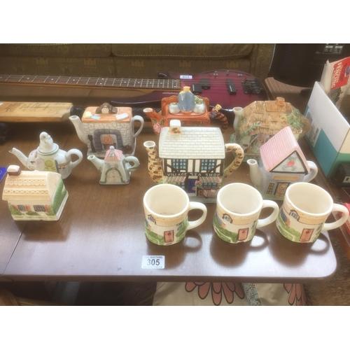 305 - Quantity of Novelty Tea Pots & Mugs...