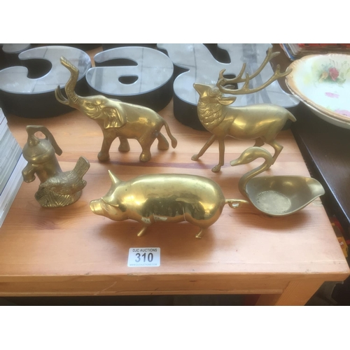 310 - Quantity of Brass Animals...