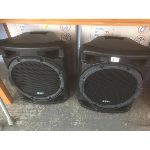 313 - M Flex Large Speakers - Boxed...