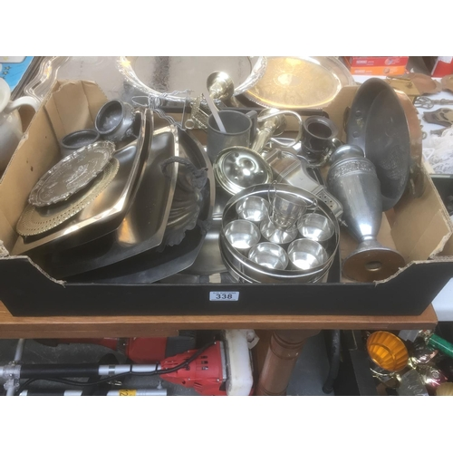 338 - Box of Silver Plate...
