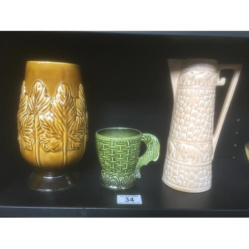 34 - 3 x Sylvac Pottery...