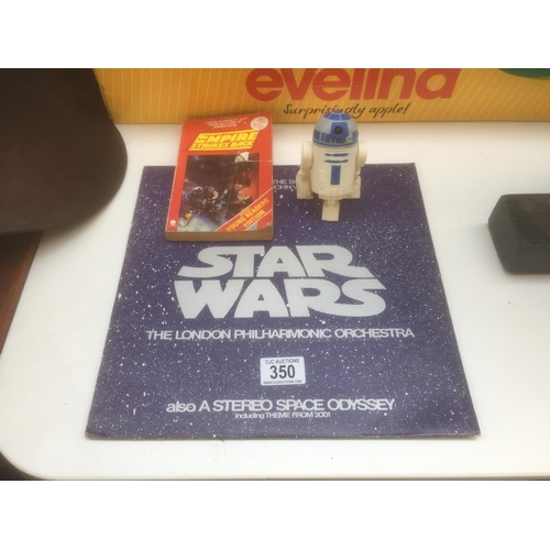 350 - Star Wars Record, Book & R2D2 Figure...