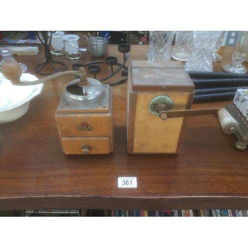 361 - 2 x Old Coffee Grinders...