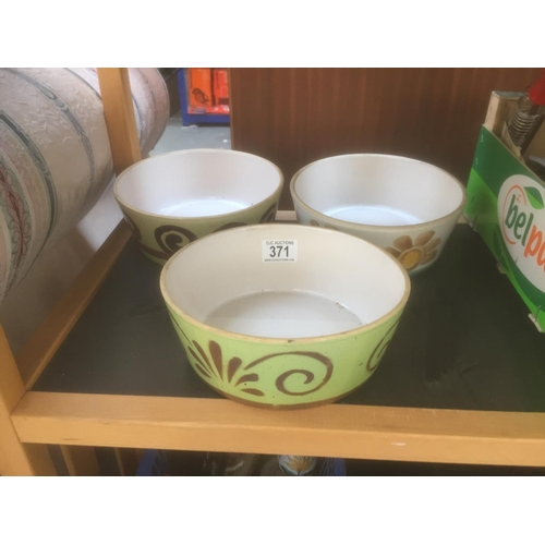 371 - 3 x Hand Painted Bowls...