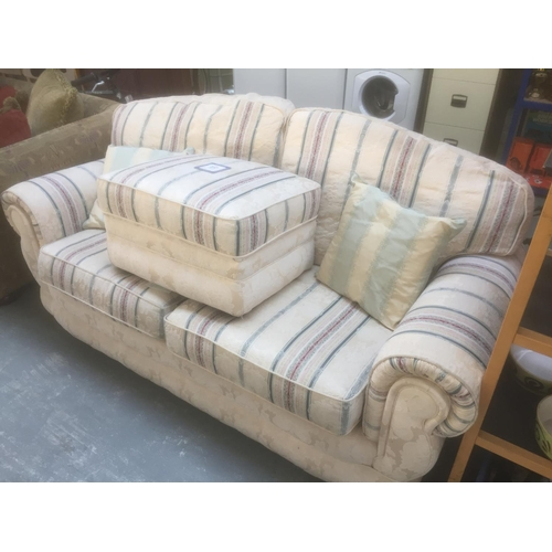 374 - Double Sofa & Footstool...