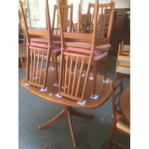 377 - Danish Teak Extendable Table & 4 Chairs...