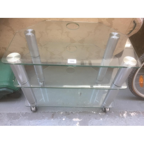 380 - Heavy Glass TV Stand...