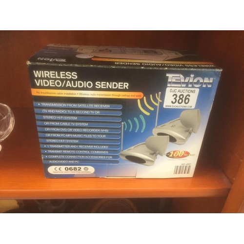 386 - Wireless Video/Audio Sender - Boxed...
