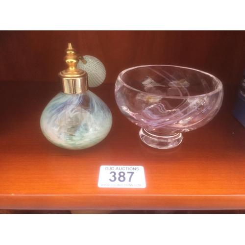 387 - 2 x Caithness Glass Items...