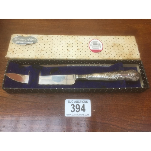 394 - Silver Hallmarked Handle Grapefruit Knife - Boxed...