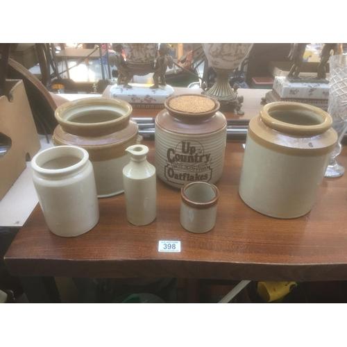 398 - Quantity of Stoneware...