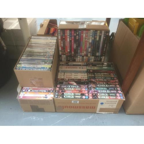 406 - Quantity of DVD's...