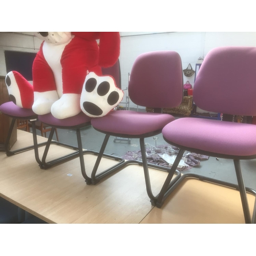 416 - 4 x Purple Office Chairs...