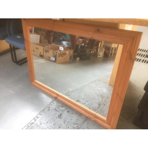 424 - Large Pine Framed Mirror...