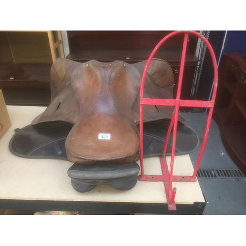 428 - 2 x Horse Saddles & Saddle Stand...