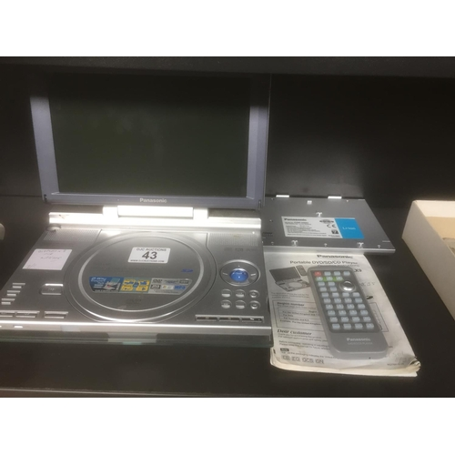 43 - Panasonic Portable DVD Player...