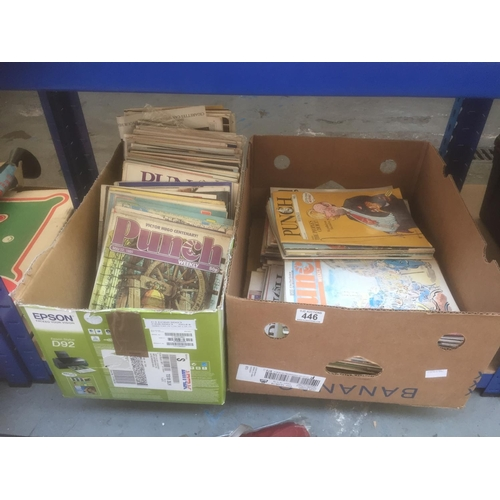 446 - 2 x Boxes of Vintage Punch Magazines - 1984 to 1988, 100+ magazines...