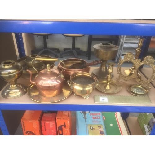 451 - Quantity of Brass & Copper...