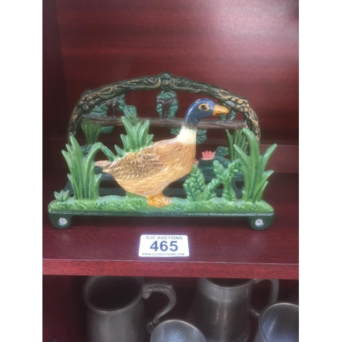 465 - Cast Duck Letter Rack...