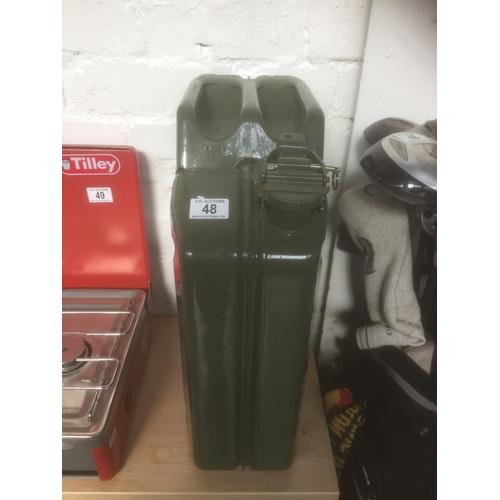 48 - 20L Metal Petrol Can...
