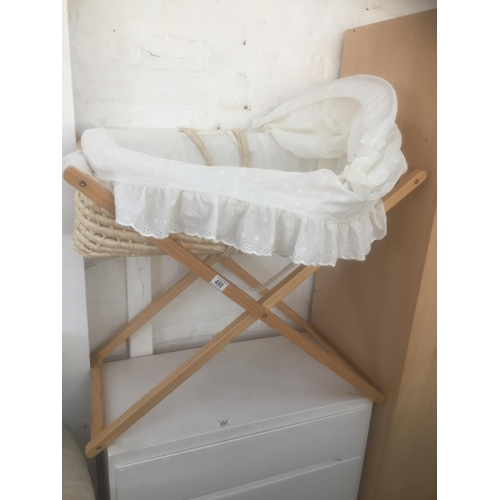 490 - Wicker Cot & Stand...