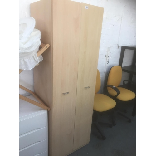 492 - Beech Wardrobe...