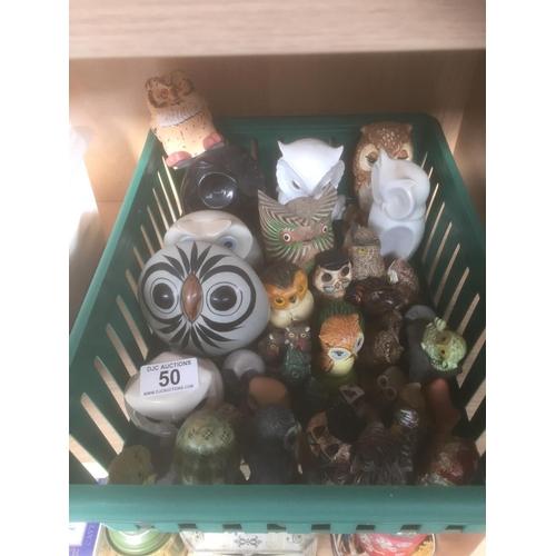 50 - Box of Owl Ornaments...