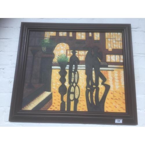 54 - Framed Canvas Print...