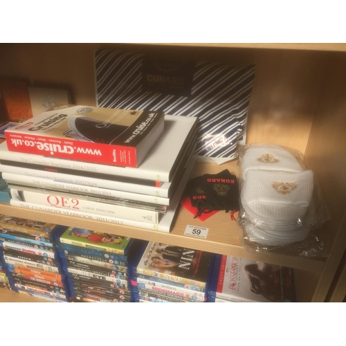 59 - Quantity of Cunard Cruise Books, etc...