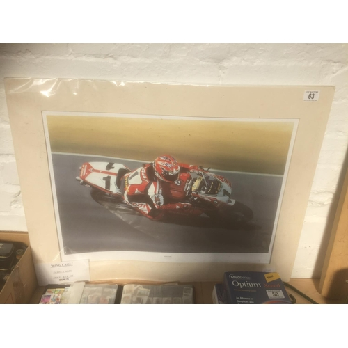 63 - Large Carl Fogarty Mounted Print - New...