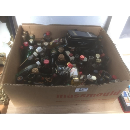 65 - Box of Alcohol Miniatures...