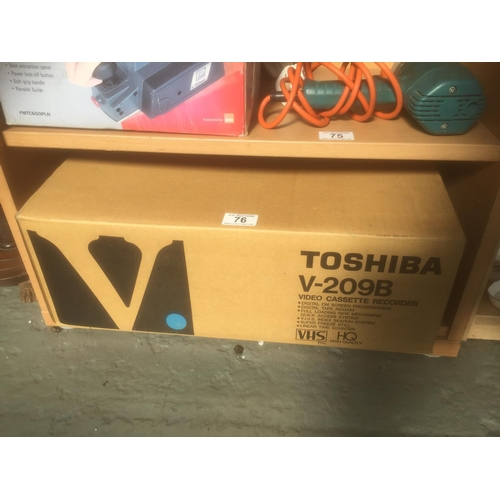 76 - Toshiba Video Player - Boxed...