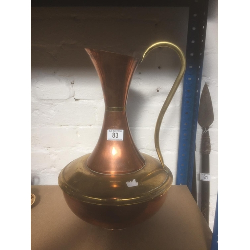 83 - Copper & Brass Jug - 43cms Height...