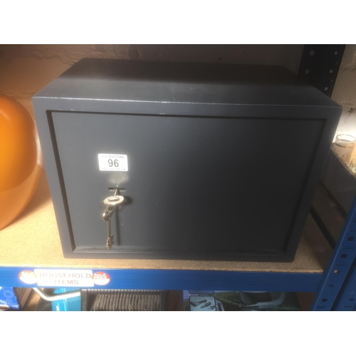 96 - Metal Safe & Keys...