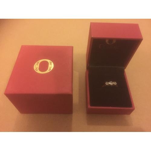 716 - Ogdens of Harrogate 18ct Gold Diamond Engagement Ring...