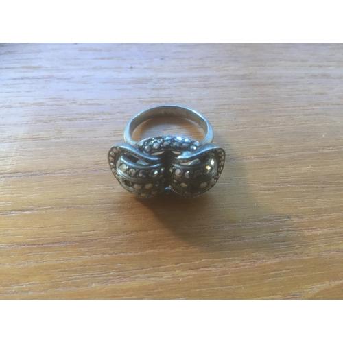 737 - Vintage 835 Silver Dress Ring...