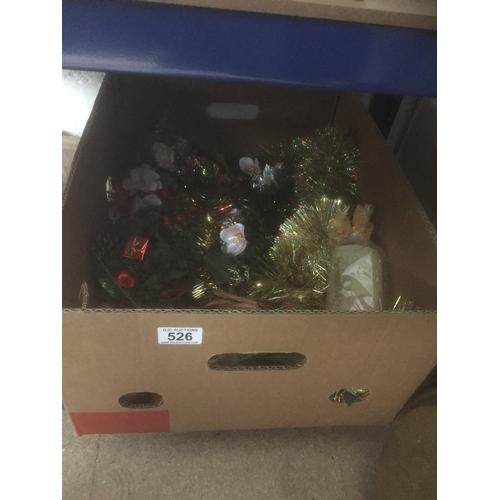 526 - Box of Xmas Decorations...