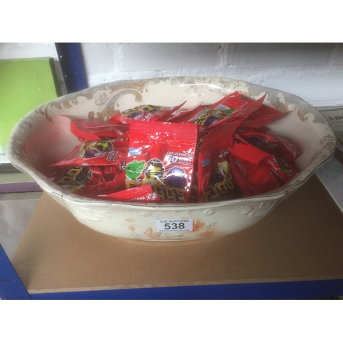 538 - Large Bowl Containing Gogos Packs...