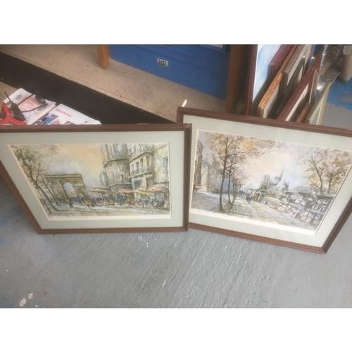 545 - 2 x Large Framed Prints...