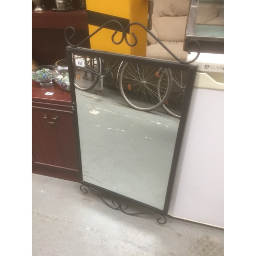 459 - Large Metal Frame Mirror...