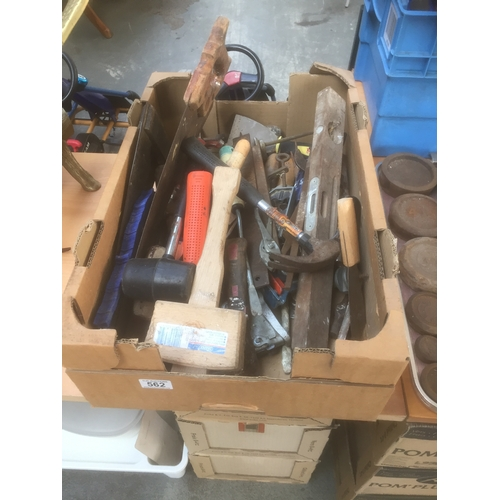 562 - Box of Vintage Hand Tools...